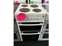 BEKO 50CM SOLID TOP ELECTRIC COOKER IN WHITE