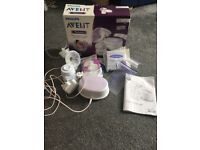 Avent electric single breast pump with accessories