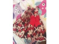 Girls Disney Minnie Mouse party dress 3-4 years