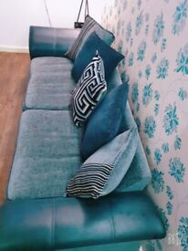 Sofa DFS 4 & 3 Seater Black and Grey