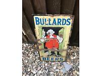 Rare bullards enamel pub advertising sign