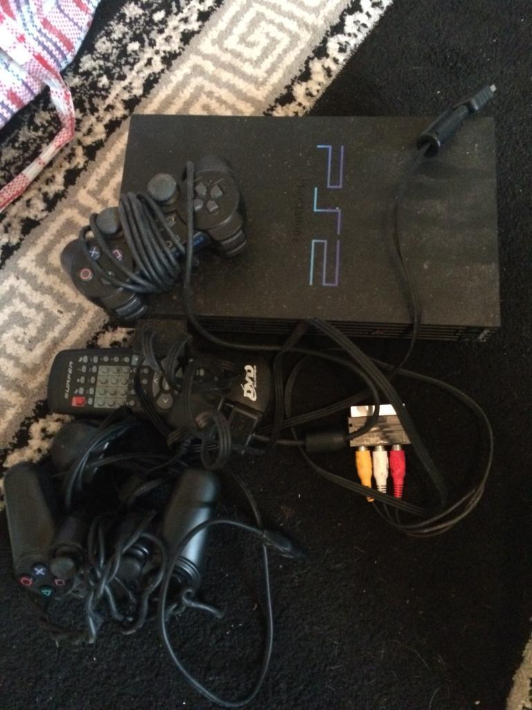 PlayStation 2 with 2 controers