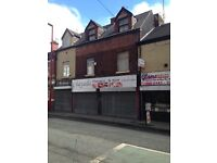 DOUBLE SHOP TO LET INCLUDE 6 ROOMS ABOVE TO LET ON MARKET STREET DROYLSDEN