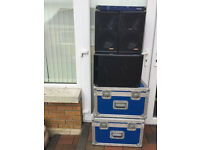Nexo ps8 ls400 PA speaker system including controller and bass bin