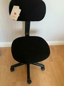 Office chair adjustable height seat black