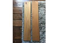 Two pieces of oak wood for shelves