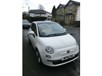 Fiat 500 lounge, 1242 cc. Outstanding condition, 27,335 miles only.