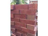 Red 65mm bricks