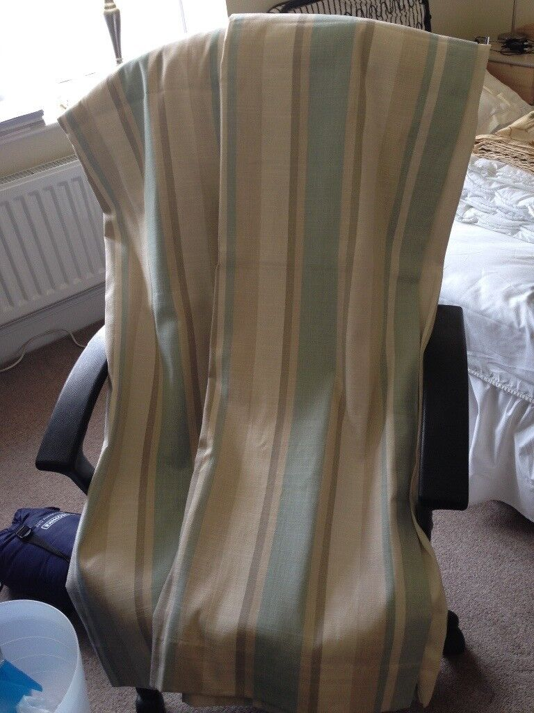 Laura Ashley Duck Egg Awning Stripe Curtains