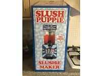 Slush puppie machine with syrups & box