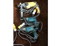 Makita screw driver 110v x2 and Dewalt hummer drill 110v