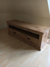 Oak TV bench for sale