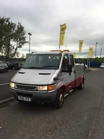 IVECO DAILY SPEC LIFT RECOVERY TRUCK 02 REG 6 SPEED MANUAL MOT EXEMPT NOT A BAD TRUCK