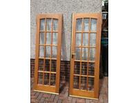 Double glass pained doors