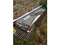 Concrete roofing sheets