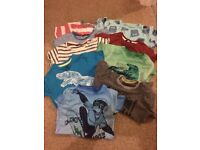 Nine short sleeved t shirts boys 5-6 years