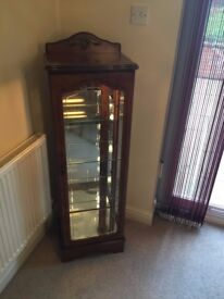 Corner units - cherry oak - with display lights built in