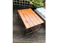 Outdoor Copper Garden Table
