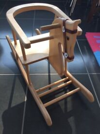 Toddlers wooden rocking horse