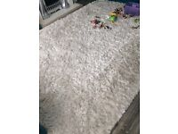 White ultra thick shaggy rug