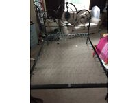 Small Double Bed Frame - Cast Iron Antique Frame