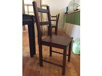 IVAR Dinning Chair Pine Dark - 6 available - £8 each