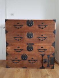 Antique 19th C Japanese Kiri Tansu/Chest of drawers