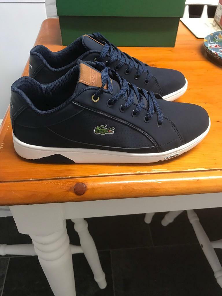282954782 Men s Lacoste Trainers Size 8 Boxed