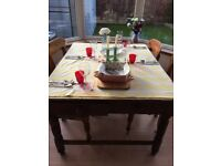 Antique Victorian 'Bake Off' kitchen table and 4 FREE chairs! Beautiful character, BARGAIN!