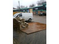 Free Collection of used wood joist and breeze block