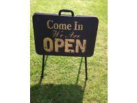 Retro Open / Closed Metal Shop Sign