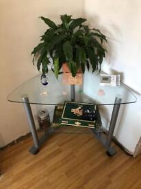 Glass corner computer desk ***FREE***