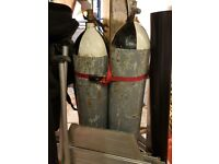 Compressed Air Diving Cylinders - 2x45ltr - 4x12ltr -1×15ltr