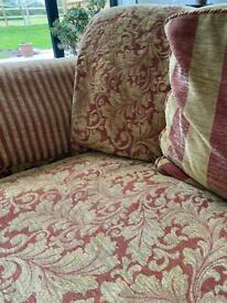 Sofa 2 chairs and a footstool- super comfy