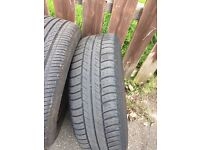VW golf tires and wheel covers for sale