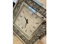 Diamond encrusted wall clock