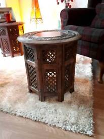 Lovely carved wooden table. Great condition. Hanworth