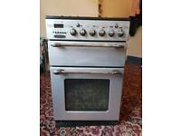 Silver & black 55 cm gas cooker very good condition