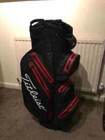 Titleist StaDry Waterproof Golf Cart Bag Black/Red