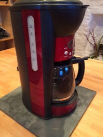 Red coffee filter machine.