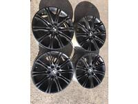 Black BMW 18inch alloy wheels come with tyres