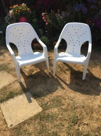 Two garden chairs