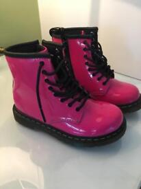 Pink Dr Martins and Next school shoes