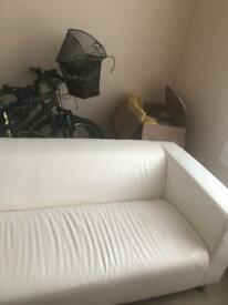IKEA White Leather sofa