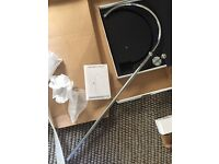 Rigid Chrome Circular Shower Riser Pipe Kit New
