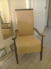 Classic antique armchair Recovered.