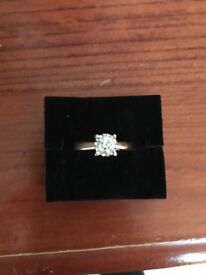 0.50ct diamond engagement ring with gold band