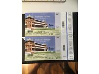 2 x Tickets - England v Pakistan 1st Test Lord's - Day 2 - Edrich Upper Stand