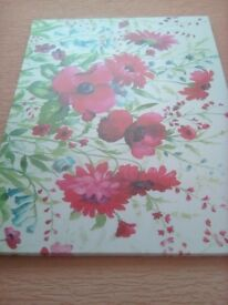 Floral printed canvas Large
