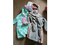 Girls dressing gown and onesie age 3